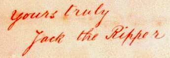 Jack the Ripper Signature from the Dear Boss Letter!
